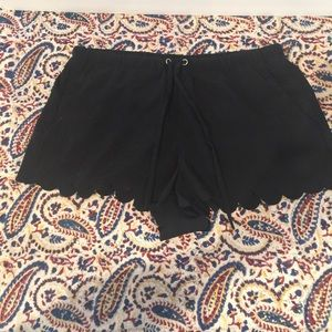 Urban Outfitters Scallop black shorts